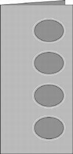 Romak kabinet kaart quattro ovaal 69 lila