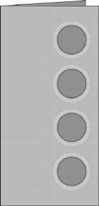 Romak kabinet kaart quattro rond 28 lichtblauw