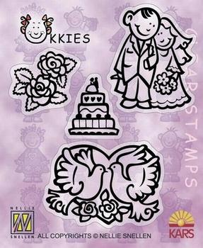 Clear stempel Nellie Snellen set Ukkies mariage