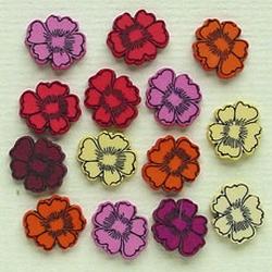 LeCreaDesign Fantasie knoopjes viooltjes