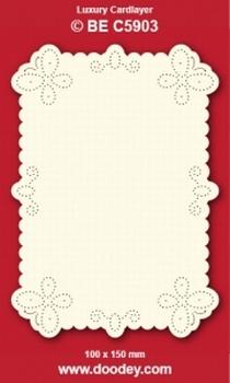 1 Doodey Luxe oplegkaart borduur BEC5903 Vlinders