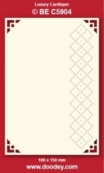 1 Doodey Luxe oplegkaart borduur BEC5904 Hoekje