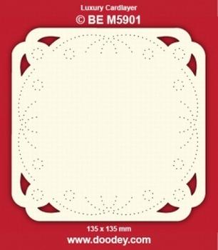1 Doodey Luxe oplegkaart borduur BEM5901 Cirkel