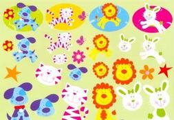 Knipvel A4 Mireille 1011 vrolijke dieren
