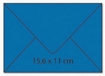 cArt-us Enveloppe rechthoek aquablauw  1 stuk