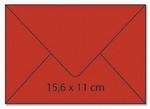 cArt-us Enveloppe rechthoek terracotta  5 stuks