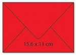 cArt-us Enveloppe rechthoek oudrood  5 stuks