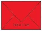 cArt-us Enveloppe rechthoek oudrood 25 stuks