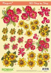 Stansvel Romak Megumi P0-001-24 Gele & roze bloemen