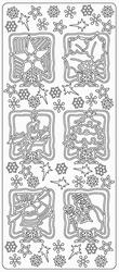 Kerststicker TH 0148 Frames met Kerst Afbeeldingen