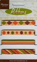 Marianne D Pretty Ribbons Lint 8307 oranje-bruin