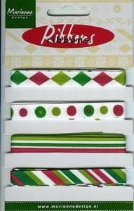 Marianne D Pretty Ribbons Lint 8305 groen-rood
