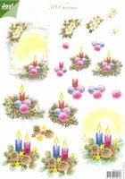 A4 Kerstknipvel Joy 6010/1003 Kerststukjes