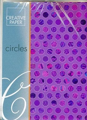 JEJE A4 Creative Paper Circles Paars