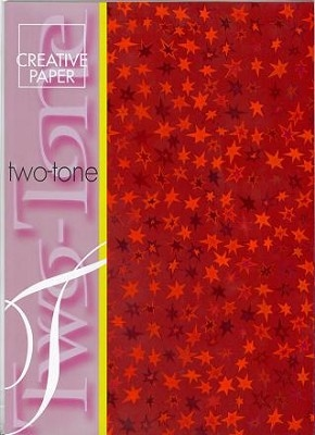 JEJE A4 Creative Paper Two Tone Sterretjes Rood