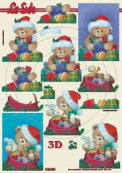 A4 Knipvel Le Suh Kerst 4169850 Beertjes met pakjes