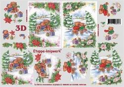 A4 Knipvel Le Suh Kerst 4169404 Beertjes in de sneeuw