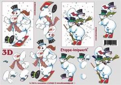 A4 Knipvel Le Suh Kerst 4169403 Sneeuwmannen