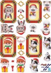 A4 Kerstknipvel Le Suh  821501 Kerstpoezen in kader