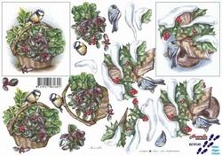 A4 Kerstknipvel Le Suh 8215160 Kerstmand/vogelhuis