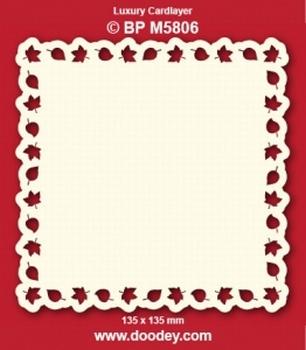 Doodey Luxe oplegkaart stans BPM5806 Blaadjes rand