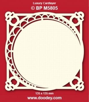 Doodey Luxe oplegkaart stans BPM5805 Cirkel