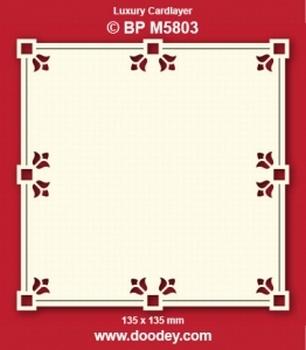 Doodey Luxe oplegkaart stans BPM5803 Lelie