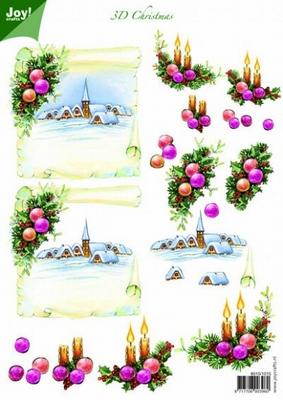 A4 Kerstknipvel Joy 6010/0015 Kerstdorp