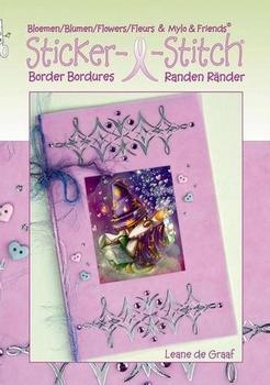 Leane Creatief Mylo&Friends Sticker-L-stitch met bloemen