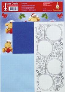 LeCrea Mylo & Friends Kerst kit 3D 51.4161 kerstbal blauw