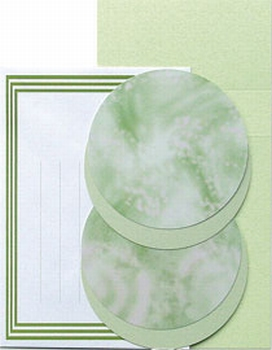 LeCreaDesign Borduur kaartenset 30.3935 Groen