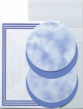 LeCreaDesign Borduur kaartenset 30.3928 Blauw