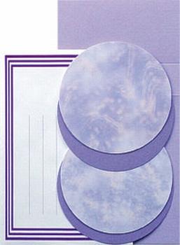 LeCreaDesign Borduur kaartenset 30.3911 Lila