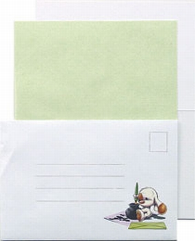LeCreaDesign Sticker-L-Stitch kaartenset 30.4017 Groen