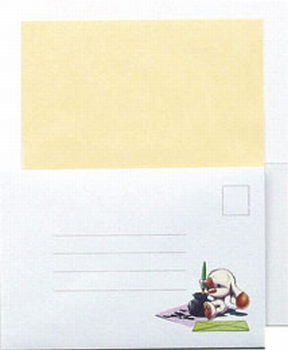 LeCreaDesign Sticker-L-Stitch kaartenset 30.4024 Geel
