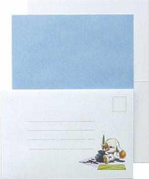LeCreaDesign Sticker-L-Stitch kaartenset 30.4000 Blauw