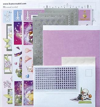 LeCrea Mylo & Friends Sticker-L-Stitch kaarten 61.3959 Roze