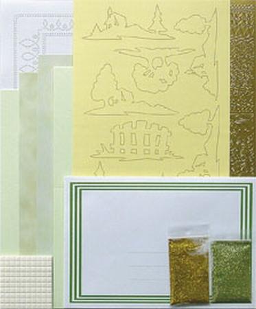 LeCreaDesign Silhouet kaarten A5 kit 51.3805 Groen