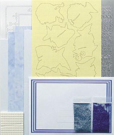 LeCreaDesign Silhouet kaarten A5 kit 51.3799 Blauw
