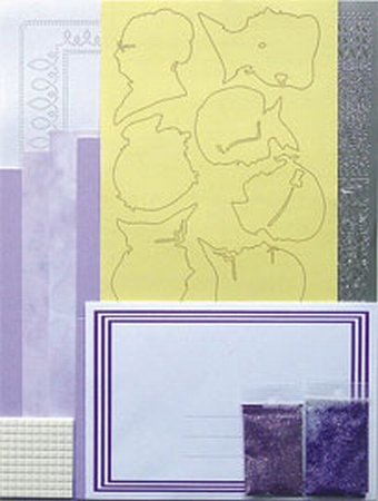 LeCreaDesign Silhouet kaarten A5 kit 51.3782 Lila