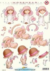 Morehead A4 Stansvel 370 Jongen/meisje roze met bloem
