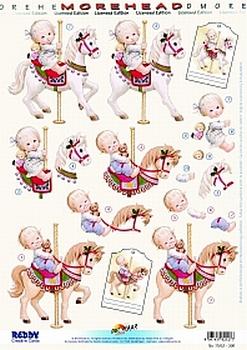 Morehead A4 Stansvel 306 Kinderen op paardenmolen