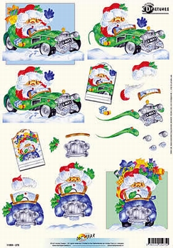 3D Kerstknipvel Universal Pictures 275 Kerstman in auto