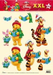 A4 Kerstknipvel Studio Light Disney Winnie the Pooh 36