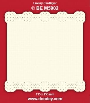 1 Doodey Luxe oplegkaart borduur BEM5902 Rand