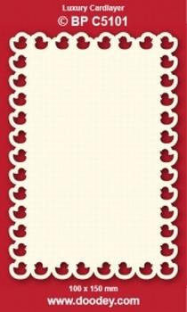 1 Doodey Luxe oplegkaart stans BPC5101 Eendjes
