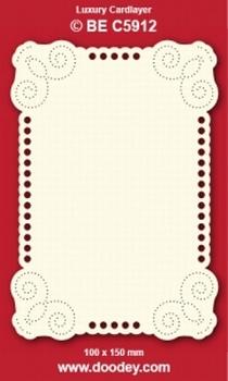 1 Doodey Luxe oplegkaart borduur BEC5912 hoekjes krul rond
