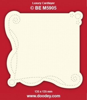 1 Doodey Luxe oplegkaart borduur BEM5905 Krul