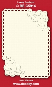 1 Doodey Luxe oplegkaart borduur BEC5914 grote hoeken krul