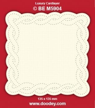 1 Doodey Luxe oplegkaart borduur BEM5904 Slinger